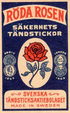 swedish matchbox label    by pilllpat (agence eureka), via Flickr