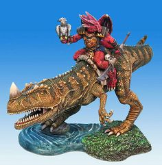 The Hunter - Draconid with Dino Mount - Visions in Fantasy - Miniature Lines