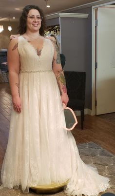 New (Un-Altered) Allure Bridals Wedding Dress 3255, Size 16