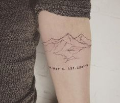 another sketchy mountain contour with coordinates of her home, Vancouver. Thanks @makennalaine_ ✨