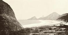 Marc Ferrez - Praia de Copacabana, vista do sopé do morro do Leme - 1890