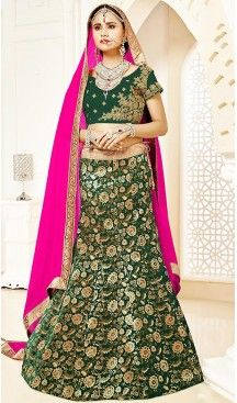 #Bottle #Green Color #Brocade A Line Style Party Ghagra Choli | FH494675816 #heenastyle, #designer, #lehengas, #choli, #collection, #women, #online, #wedding , #Bollywood, #stylish, #indian, #party, #ghagra, #casual, #sangeet, #mehendi, #navratri, #fashion, #boutique, #mode, #henna, #wedding, #fashion-week, #ceremony, #receptions, #ring , #dupatta , #chunni , @heenastyle , #Circular , #engagement ,#treditional