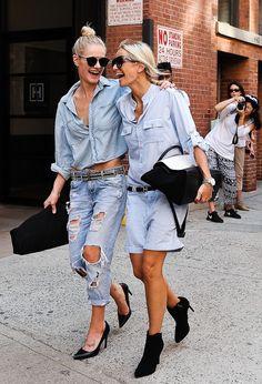(DENIM ON DENIM IS IN) NYFW Street Style Day 2 www.redreidinghood.com