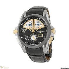 Ulysse Nardin : Sonata Rose Gold Perpetual Calendar Alarm Alligator Leather Mens Watch Model No. 675