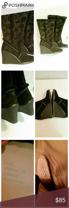 """Coach """"Jordana"""" black dress boots In excellent like brand new without box. These boots are discontinued from Coach. Coach Shoes Heeled Boots"""