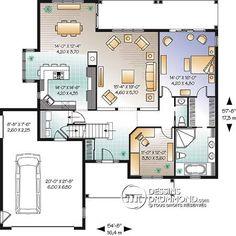 Détail du plan de Maison unifamiliale W3246-V1
