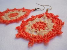 Teardrop Earring #3 free crochet pattern