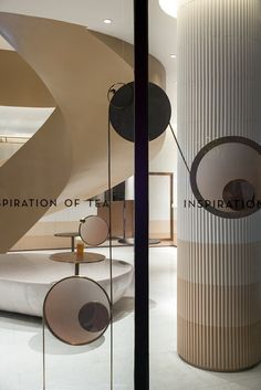 different shades of nudge/beige Lobby Interior, Office Interior Design, Office Interiors, Interior Design Living Room, Interior Decorating, Column Design, Lobby Design, Modern Color Schemes, Commercial Interiors