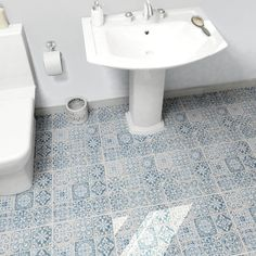 "EliteTile Faventie Azul 13"" x 13"" Ceramic Field Tile in Blue"