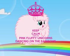 Pink Fluffy Unicorns Dancing On Rainbows