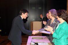 Doña Sofía entrega la Mención Especial en la Categoría de conservación, al espacio arqueológico en Daroca (Zaragoza) Museo Arqueológico Nacional. Madrid, 17.04.2015