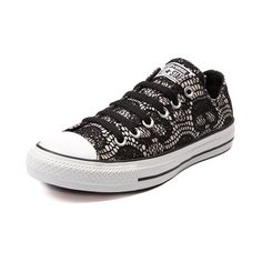 Shop for Converse All Star Lo Skull Lace Sneaker in Black White at Journeys Shoes. Shop today for the hottest brands in mens shoes and womens shoes at Journeys.com.The All Star knows no bounds. From b-ball courts to punk clubs. From skateparks to school yards. The Converse All Star has come a long way, and its ready to take you even further. The original Old School never lets up. This exclusive edition Converse All Star Lo boasts a white canvas upper with a black lace overlay featuring edgy…