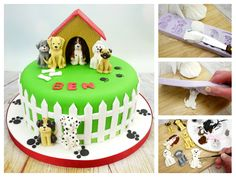 It's a Dog's Life! How to use a Karen Davies mould to make dogs cake toppers.