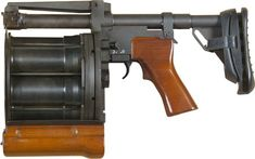 """Caliber caseless type) Type Multi-shot revolver Length 525 / 388 mm Weight, empty kg Capacity 6 rounds Maximum effective range 400 meters """"Lavina"""" («Лавина Bulgarian Language, Submachine Gun, Concept Weapons, French Army, Big Guns, Military Weapons, Guns And Ammo, Tactical Gear, Firearms"""