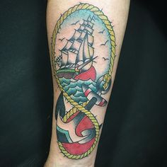 Sea shipping tattoo