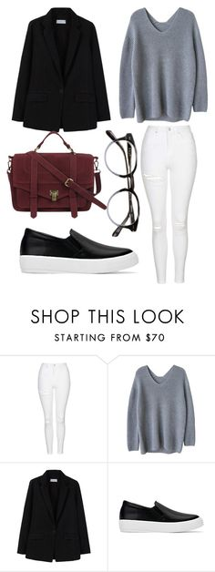 """""""Без названия #166"""" by lachasseauxpapillons ❤ liked on Polyvore featuring Topshop, MANGO and Chicnova Fashion"""