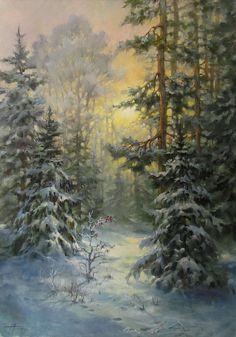 Watercolor Landscape, Landscape Art, Landscape Paintings, Painting Snow, Winter Painting, Winter Trees, Winter Art, Winter Pictures, Art Pictures
