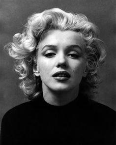 Marylin Monroe en blanco y negro.