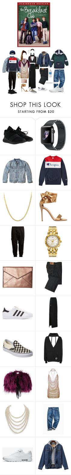 """""""The Breakfast Club"""" by oshannayvette ❤ liked on Polyvore featuring adidas, Hollister Co., Champion, Lord & Taylor, Gianvito Rossi, Yohji Yamamoto, Versace, Rebecca Minkoff, Levi's and adidas Originals"""