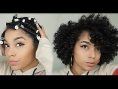 How To: Cheat A Bantu Knot Out Using Perm Rods - YouTube