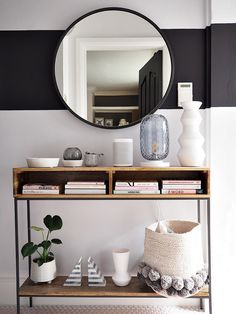 beautifully styled hallway console table completed for the hallway ideas Decor, Furniture, Interior, Home Furnishings, Home Furniture, Home Decor, Hallway Designs, Console Table Hallway, Industrial Console Tables
