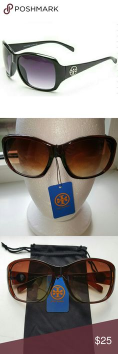 OVERSIZED FASHION SUNGLASSES BRAND NEW WITH POUCH!   Complete a glamorous look with these fabulous oversized glasses accented with logo hardware. Comes with black microfiber pouch.  These look almost identical to the glasses featured in the TORY BURCH collection at a fraction of the price.  These are BASIC quality sunglasses with a very rich look.  I'm open to REASONABLE OFFERS.... PLEASE NO LOW BALL OFFERS.   Thank you xoxo Tory Burch Accessories Sunglasses