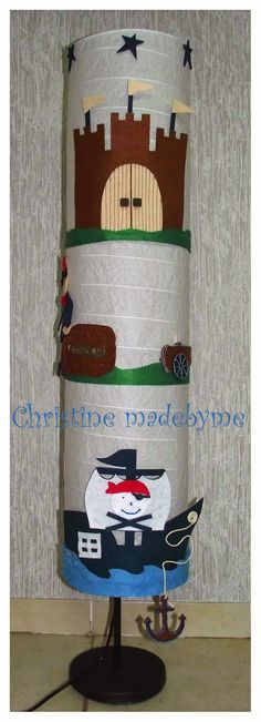 "Christine madebyme: Παιδικό φωτιστικό δαπέδου ""Πειρατικό καράβι"""