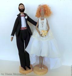 Купить Молодожены в стиле Тильда - свадьба, жених и невеста, тильда, свадебное платье, подарок на свадьбу ♡