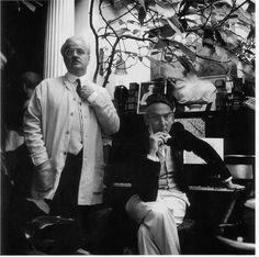 Ian 'Archie' Beck & Glynn Boyd Harte photographed as Les Freres:Perverts, Reynaldo & Marcel, in Mr John Hilton's house.