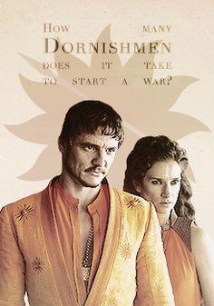 Oberyn and Ellaria look so freaking fierce!