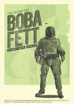Boba Fett - Retroish Star Wars Posters Created by Zharif... | TieFighters