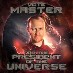 """Big Finish on Twitter: """"@TheLisaBowerman @Markgatiss @gossjam @GuyAdamsAuthor @tomwebsta @AnnetteBadland1 @stevefoxon @scott_handcock @BlairMowat Or #VoteMASTER - we need firm and fierce leadership in these times. Good luck! It's only the end of the world...https://t.co/MhiVEUszsT https://t.co/fOEsGPXxMI"""""""