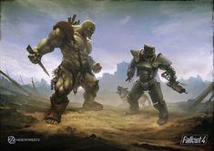 Fallout 4 tribute, Alfred Khamidullin on ArtStation at https://www.artstation.com/artwork/fallout-4-tribute