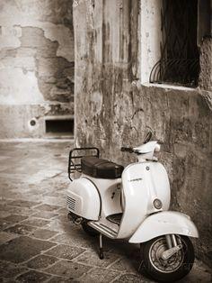 Italy, Apulia, Lecce District, Salentine Peninsula, Salento, Lecce, Vespa Scooter Photographic Print by Francesco Iacobelli at AllPosters.com