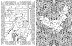 Harry Potter Colouring Book Spread