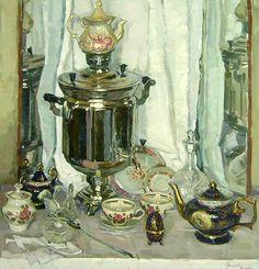 Григорьева-Климова Ольга. Натюрморт чайный
