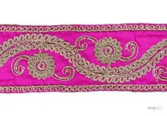 indian Sari Ribbon . This awesome design is of Saree Ribbon . Its product code is: 004377 , Its size is: 85 mm. Material used is 100% Polyester . This Saree Ribbon comes with Plain decoration. As seen design pattern is Flower . Locally this lace is also known as Saree Ribbon . This indian Sari Ribbon item have 1 colors available in this design. This lace can also be used in Salwar Kameez , Saree Border etc.