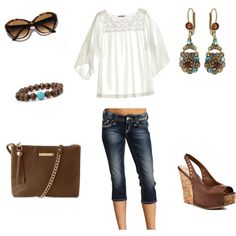 Brown and Blue, created by tamara-white-chase on Polyvore