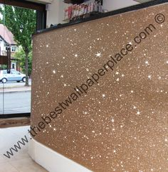 Gold Glitter wallpaper sold by the metre, 147cm wide for £39