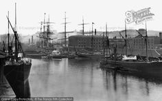 Bristol, the Quay 1887. How lovely to see the masts of all these lovely old tall ships.