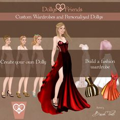 Personalized New Fashion Party Paper Dolls by BasakTinliDesign