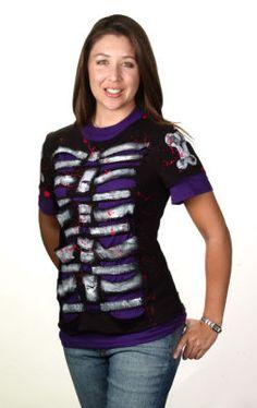Halloween Skeleton Altered T-Shirt