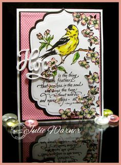 Goldfinch+-Feathered+Hope+card+colored+w/+Copics+-+Julie+Warner+for+Serendipity+Stamps