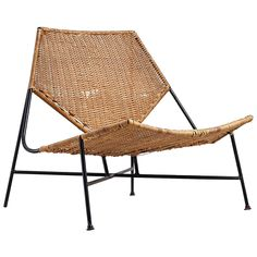 Arthur Umanoff Rattan Lounge Chair | From a unique collection of antique and modern lounge chairs at https://www.1stdibs.com/furniture/seating/lounge-chairs/
