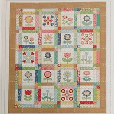 This is my BLOOM quilt that we will be making during my next sew along starting in January. My Calico Days fabric gets here in December and we will be using it along with my newest products...Sew Simple Shapes templates....yay! I can't wait!!! I have other fun projects planned along the way for the sew along as well. Sew Along will be on my blog as usual!!! ✂️✂️✂️ #beeinmybonnet #CalicoDaysFabric #BloomSewAlong #iloverileyblake