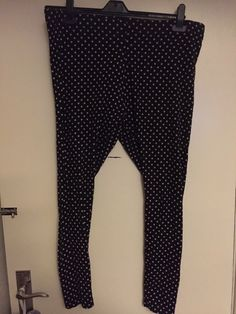 7935747bba7318 Black Polka Dot Leggings Size 22/24 Esmara #fashion #clothing #shoes #
