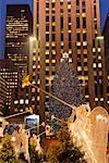 Christmas Tree at Rockefeller Center, New York City, New York, USA