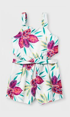 726f18c14c47e adorable tropical romper with cutout in the back  toddler  summer   affiliate Toddler Girl