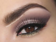 Pretty smokey purple for brown eyes. I love how makeup enhances peoples natural beauty!