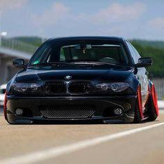 BMW E46 M3 black slammed stance
